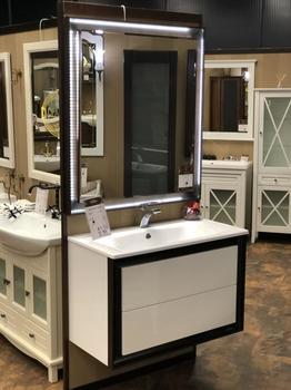 Мебель для ванной Капри 80 Белый Opadiris-13256