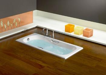 Чугунная ванна Roca Malibu 160х75 с отверстиями для ручек-17956
