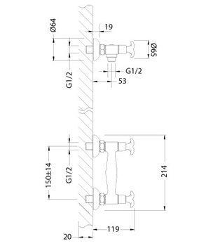 Серия FLORA. Смеситель для душа (LM0103C)-12465