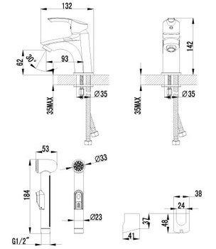 Серия plus Strike. Смеситель для умывальника и биде монолитный – LM1116C-12562