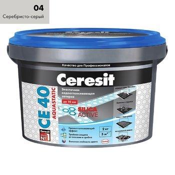 Затирка Ceresit СЕ 40 Aquastatic серебристо-серый 2 кг-9688