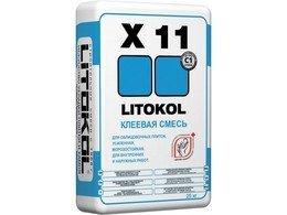 LITOKOL X11 Клей для укладки мрамора, керамической плитки, мозаики внутри и снаружи, в том числе и в бассейнах 25 кг.