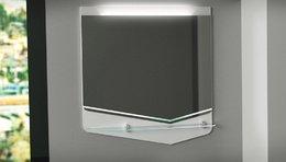 Зеркало CRYSTAL CUB 70, белый