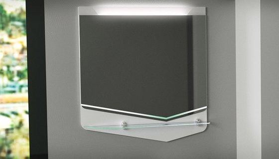 Зеркало CRYSTAL CUB 70, белый - главное фото