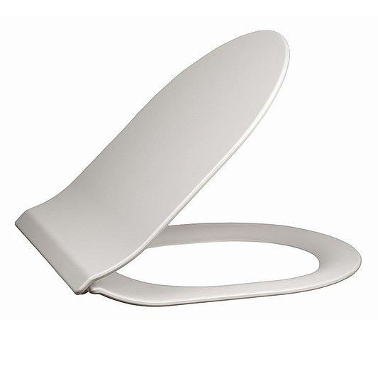 Сиденье PLAZA Modern Slim Soft close + clip up, белый  - главное фото