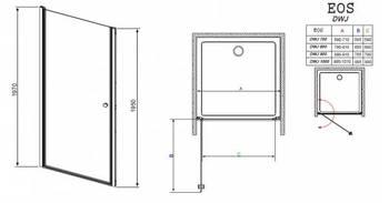 Душевая дверь EOS DWJ 100 без матовой вставки-15407