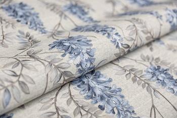 Обои Эдем серый, синий мотив-19130