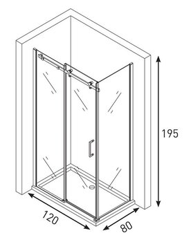 Душевой уголок GELIOS 1200*800 -19899