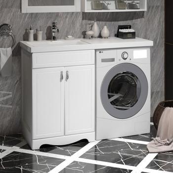 Мебель для ванной Клио под стиральную машину Белый матовый-14720