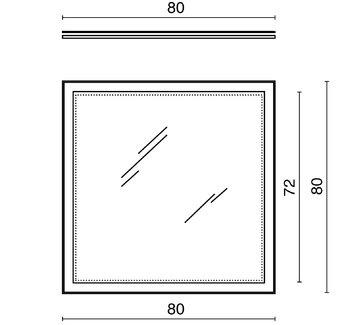 Панель с зеркалом (LED) 80x80см-13577