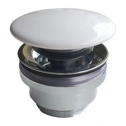 Донный клапан с керамической крышкой для раковин PLAZA DR.1/WHT
