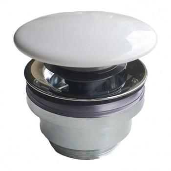 Донный клапан с керамической крышкой для раковин PLAZA DR.1/WHT-18418