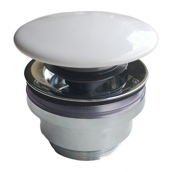 Донный клапан с керамической крышкой для раковин PLAZA DR.1/WHT - главное фото