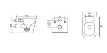 CS052EP-MB  Унитаз подвесной -17555