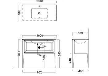 PL.C.100.1\CAP Тумба PLAZA Classic напольная 100 капучино 1 ящик 840-20612