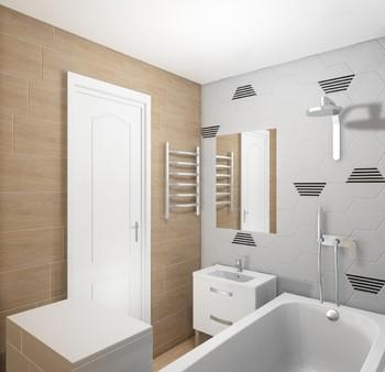 Дизайн-проект «Гексагоны и дерево в интерьере ванной комнаты»-16816