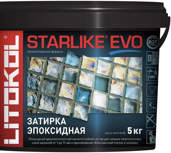 Эпоксидная затирка STARLIKE EVO  grigio seta (S.115) 5кг - главное фото