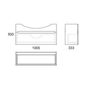 Тумба Lagerta 105, 1 ящик, белая OW08.04.00-17610