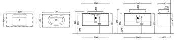 Тумба PLAZA Modern, подвесная 100 см, 1 выдвижной ящик и открытая полка, цв.дуб Орегон-14873