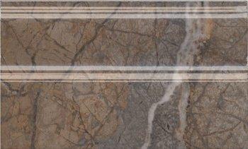 Плинтус Театро коричневый обрезной-12832
