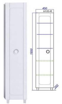 Пенал напольный Инфинити П45, белый Inf.05.45-12319
