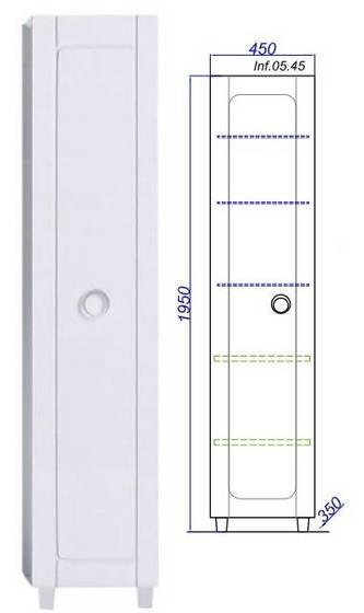 Пенал напольный Инфинити П45, белый Inf.05.45 - главное фото