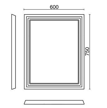 Зеркало POMPEI 60 см, белое-13839