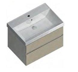 Тумба CUBO подвесная 70 лимо 2 ящика