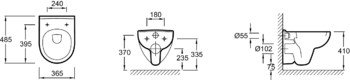 E4705-00 унитаз ODEON UP подвесной (бел) JD-12955