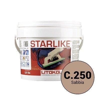 Эпоксидная затирка Starlike Defender C.250 Sabbia антибактер. 1 кг - главное фото