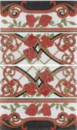 Columna Baikal rojo декор (из 4-x плиток 25х60)