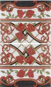 Columna Baikal rojo декор (из 4-x плиток 25х60)-17147