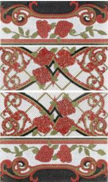 Columna Baikal rojo декор (из 4-x плиток 25х60) - главное фото