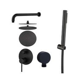 СS-7106-В Душевая система, встраиваемая, матовый чёрный