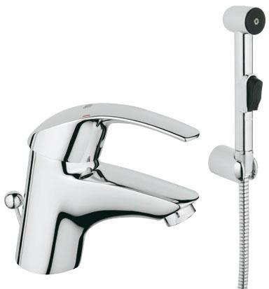 Смеситель GROHE Eurosmart для раковины с гигиеническим душем  - главное фото