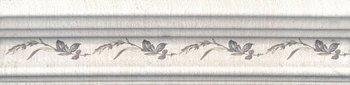 Бордюр Багет Кантри Шик белый декорированный-5480
