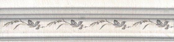 Бордюр Багет Кантри Шик белый декорированный - главное фото