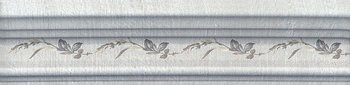Бордюр Багет Кантри Шик серый декорированный-5479