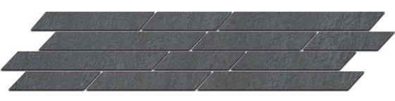Бордюр Гренель серый темный мозаичный - главное фото