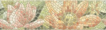 Бордюр Летний сад Лилии лаппатированный-6161