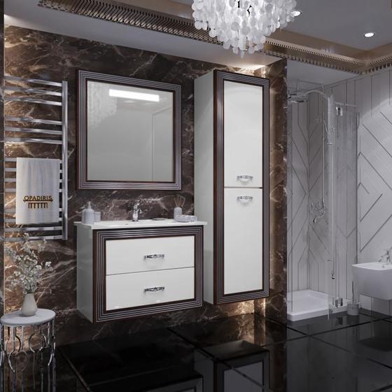 Мебель для ванной Карат 80 Белый/серебро Opadiris - главное фото