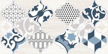 Декор Мореска синий-13496