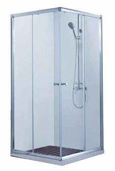 Душевое ограждения (без поддона), две раздвижные двери BS090.2200A DROP-19915