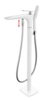 CS-61014-2В Смеситель напольный отдельностоящий, Белый+Хром. Calypso-17579