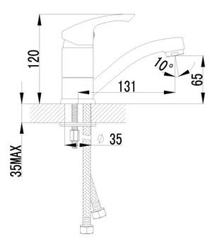 Серия plus Strike. Смеситель для умывальника с поворотным изливом (LM1107C)-12560