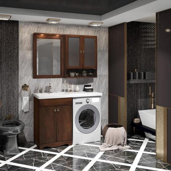 Мебель для ванной Клио под стиральную машину Орех антикварный Opadiris - главное фото