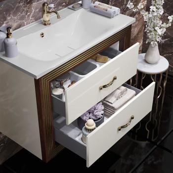 Мебель для ванной Карат 80 Бежевый/золото Opadiris-13235