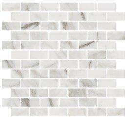 Декор Буонарроти белый мозаичный