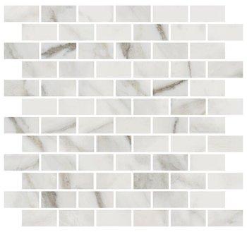 Декор Буонарроти белый мозаичный-12215