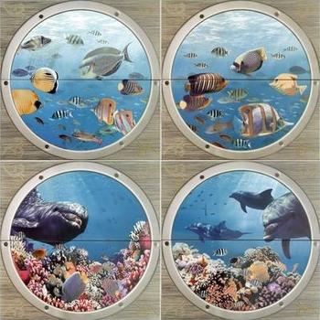 Mural Poseidon II панно (из 8-ми плиток 25*50)-17329